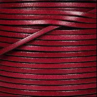 3mm Flat Leather Cord - Plum - per inch