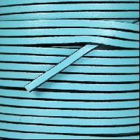 3mm Flat Leather Cord - Pastel Turquoise - per inch