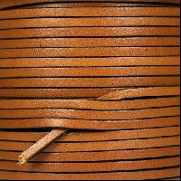 3mm Flat Leather Cord - Tobacco - per inch