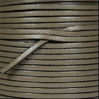 3mm Flat Leather Cord - Putty - per inch