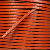 3mm Flat Leather Cord - Rust - per inch