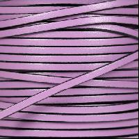 3mm Flat Leather Cord - Lilac - per inch