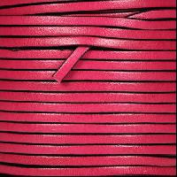 3mm Flat Leather Cord - Fuchsia - per inch
