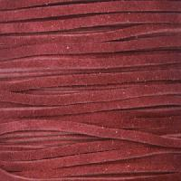 Suede 3mm FLAT Leather Cord - Maroon