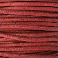 3mm Round Euro Leather Cord per 25M SPOOL - Burnt Red