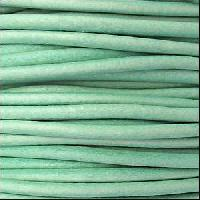 3mm Round Euro Leather Cord per 25M SPOOL - Distressed Teal