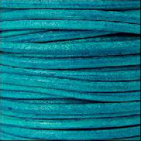 3mm Round Leather Cord - Distressed Turquoise