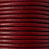 3mm Round Leather Cord - Bordeaux