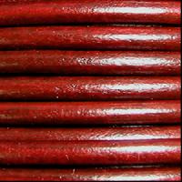 3mm Round Leather Cord - Red Whiskey