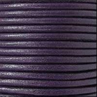 3mm Round Leather Cord - Purple
