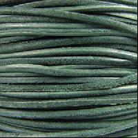 Suede 3mm ROUND Leather Cord - Dark Teal - per inch
