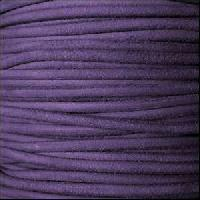 Suede 3mm ROUND Leather Cord - Purple - per inch