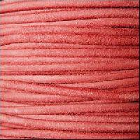 Suede 3mm ROUND Leather Cord - Rose Pink - per inch