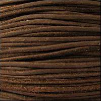 Suede 3mm ROUND Leather Cord - Brown - per inch