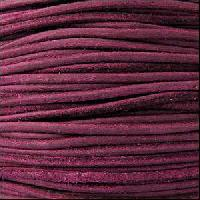 Suede 3mm ROUND Leather Cord - Violet - per inch