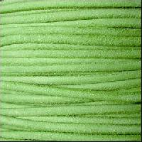 Suede 3mm ROUND Leather Cord - Apple Green - per inch