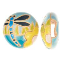 Golem Studio Slider Flat 10mm Round Dragonfly - Light Blue / Yellow