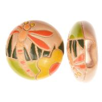 Golem Studio Slider Flat 10mm Round Dragonfly - Cream / Orange / Green
