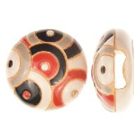 Golem Studio Slider Flat 10mm Round Paisley Circles - Cream / Black / Red