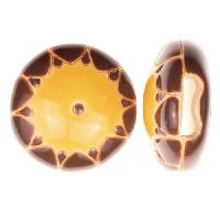 Golem Studio Slider Flat 10mm Round Sun - Brown / Yellow