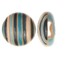 Golem Studio Slider Flat 10mm Round Funky Stripes - Blue / White