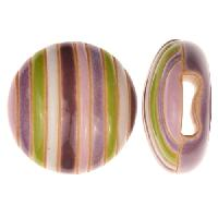 Golem Studio Slider Flat 10mm Round Funky Stripes - Purple / White / Green