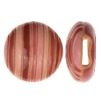 Golem Studio Slider Flat 10mm Round Funky Stripes - Pink / Wine