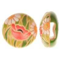Golem Studio Slider Flat 10mm Round Poppy Meadow - Red / Green