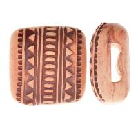 Golem Studio Slider Flat 10mm Square Tribal Lines - Cream / Brown