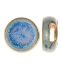 Golem Studio Slider Flat 10mm Round Melted Glass - Blue Sky