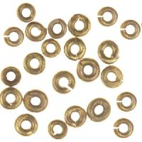4mm Heishi Spacer (50) - Antique Brass
