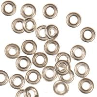 4mm Heishi Spacer (50) - Silver Plated