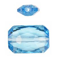 Swarovski 5627 27mm Emerald Cut Large Hole Bead - Aquamarine