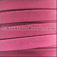 Arizona 5mm Flat Leather Cord - Fuchsia