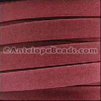 Arizona 5mm Flat Leather Cord - Red