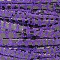 Cancun 5mm Flat Leather Cord - Purple