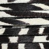 5mm flat HAIR ON leather ZEBRA