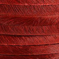 5mm flat HAIR ON leather RED - per inch