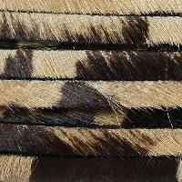 5mm flat HAIR ON leather COW - per inch