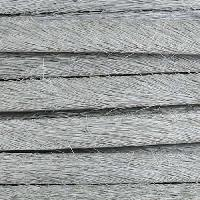 5mm flat HAIR ON leather GREY - per inch