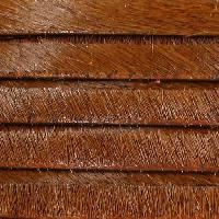 5mm flat HAIR ON leather WHISKEY - per inch