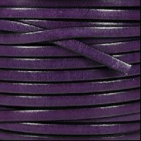 Leather Flat 5mm - Deep Purple - per inch