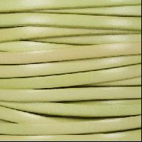 5mm Flat Leather Cord - Distressed Pastel Green - per inch