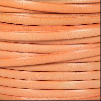 5mm Flat Leather Cord - Distressed Pastel Orange - per inch