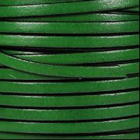 5mm Flat Leather Cord - Bottle Green - per inch