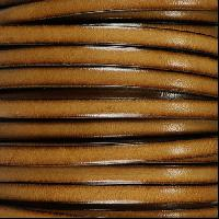 5mm Flat Leather Cord - Cedar - per inch