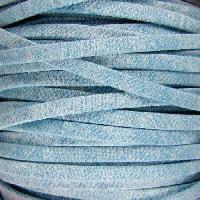 Faded Denim 5mm Flat Knit Cord - Light Denim