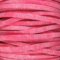 Faded Denim 5mm Flat Knit Cord - Cerise