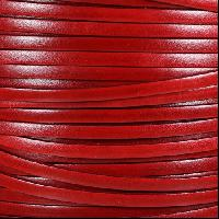 Italian Dolce 5mm Flat Leather Cord - Strawberry
