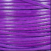 Italian Dolce 5mm Flat Leather Cord - Violet - per inch